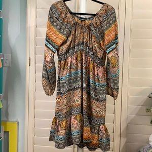 -BEAUTIFUL BoHo, peasant,- flowing dress size 1X